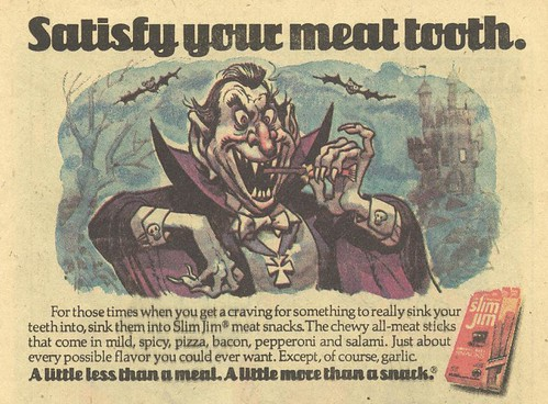 1977 Jack Davis Slim Jim ad - Dracula
