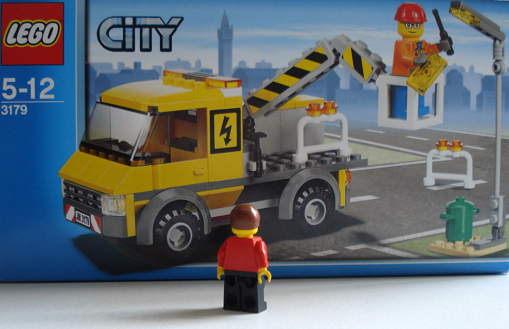 Lego City Street Light Repair Truck