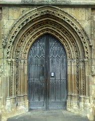 South Porch St. Mary's Church, Beverley, East Riding of Yorkshire (woodytyke) Tags: door uk england english history church st stone architecture century photography early town flying photo wooden arch britain yorkshire united capital gothic kingdom carving medieval christian east riding surround marys british earl column perpendicular base isles anglican beverley pointed decorated furness woodytyke