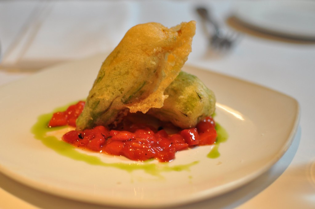 battered fried squash blossom