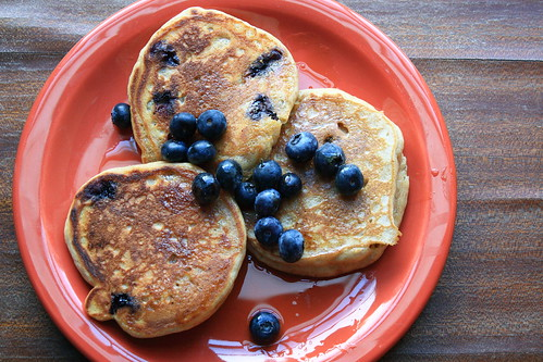 Whole Wheat Buttermilk Blueberry Pancakes
