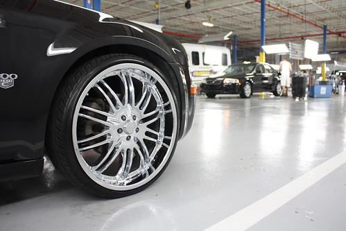 Chrysler 300 Black Rims. Black Chrysler 300 C 24 Inch