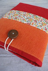 Lovely laptop sleeve from cotton... (SandraStJu) Tags: orange bag notebook sewing laptop case purse cover clutch sleeve padded macbook