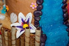 hawaiian cake details (RachelC.Photography) Tags: birthday vacation 3 flower tree cake hawaii waterfall birthdayparty palm birthdaycake luau fancy happybirthday tropical layer tier fondant hawaiin