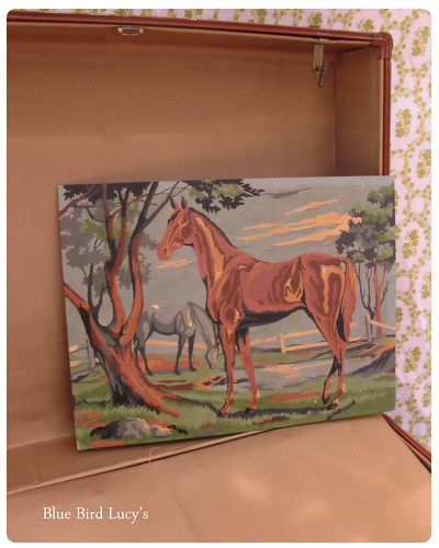 Vintage Paint By Numbers Horse