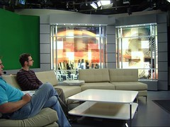 TV Studio set-build using X-Board Print