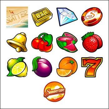 free Mega Moolah Summertime slot game symbols