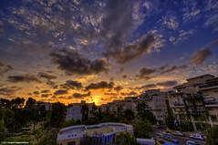 Tel Aviv's Sky (iPh4n70M) Tags: street city light sunset sky sun colour building colors clouds soleil israel town nikon day boulevard lumire couleurs tel aviv cit coucher end nikkor nuages hdr ville immeuble isral 9xp d700 1424mm 9raw