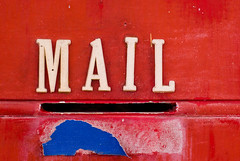 Mail Slot in an Old Red Door (Craig Jewell Photography) Tags: door old blue red writing 50mm iso100 post noflash dirty f45 tape letter postbox postal letterbox slot cracked 1125sec smcpfa50mmf14 smcpentaxfa50mmf14 20090106085020imgp0084 craigjewellphotography