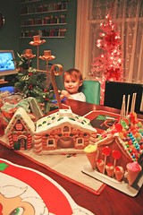 Sadie in Candyland (boopsie.daisy) Tags: christmas baby house holiday pez tree table toddler room gingerbread sadie dining placemats