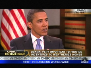 President-elect Barack Obama spoke to CNBC about the housing challenges facing the nation.