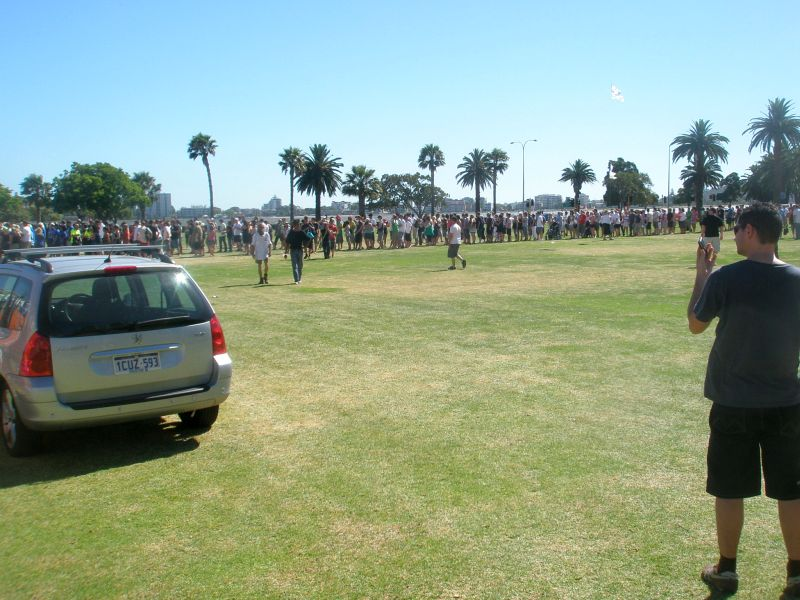 beer festival line