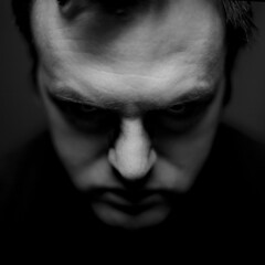Why so serious? - 105 self (Dan. D.) Tags: portrait self canon dof f14 flash joker softbox strobist whysoserious eldano