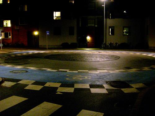 Nighttime Roundabout
