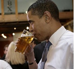 Obama and beer