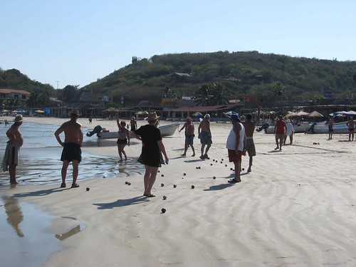 Bocce on the beach