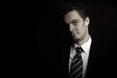 Man in Black (morganmarinoni.com) Tags: portrait man black sexy studio moda spot uomo autoritratto ritratto vita ragazzo sfondo cravatta vestito memorycornerportraits