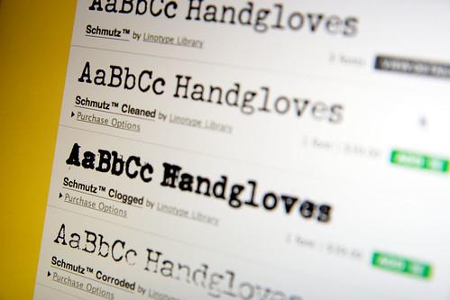 Schmutz On FontShop