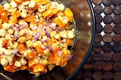 Warm Butternut Squash and Chickpea Salad