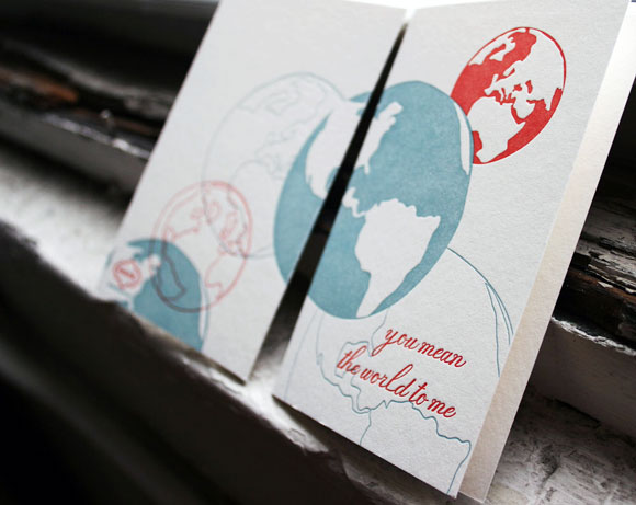 Letterpress greeting card - valentine's day love - by Smock