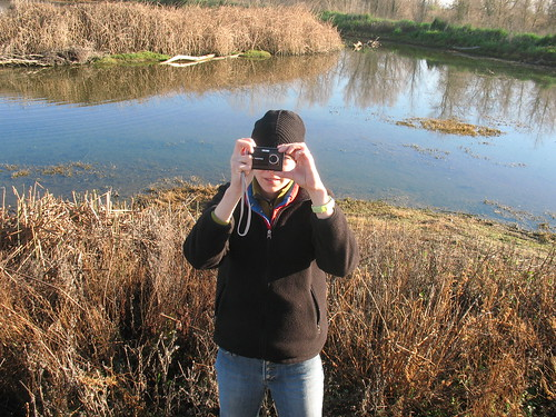 Documenting the documenter at the Colusa Wildlife Refuge