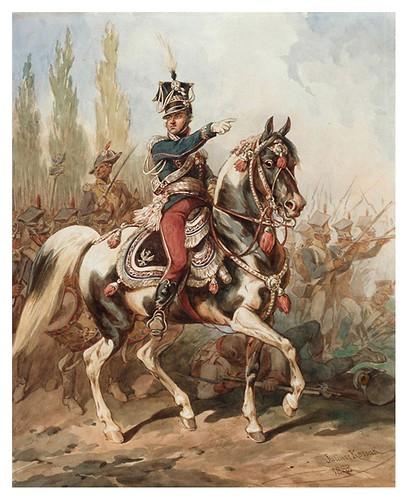 023- Jan Henryk Dąbrowski al frente de las legiones polacas-acuarela 1882- Juliusz Kossak