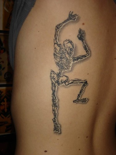 Skeleton sketch tattoo