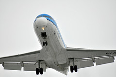Fokker 100. PH-KZI. KLM Cityhopper. (dennisgoodwin) Tags: birmingham aircraft aviation aeroplane landing klm airliner fokker100 bhx dennisgoodwin photographerdennisgoodwin photographedbydennisgoodwin dennisgphotographycouk