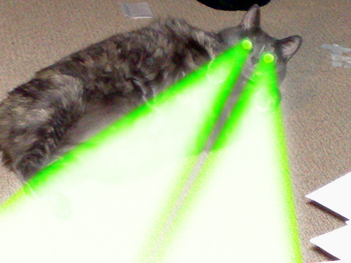 7lazers, she fires them!