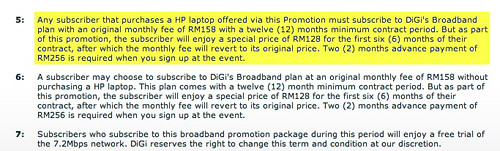 Digi 3G Terms & Conditions