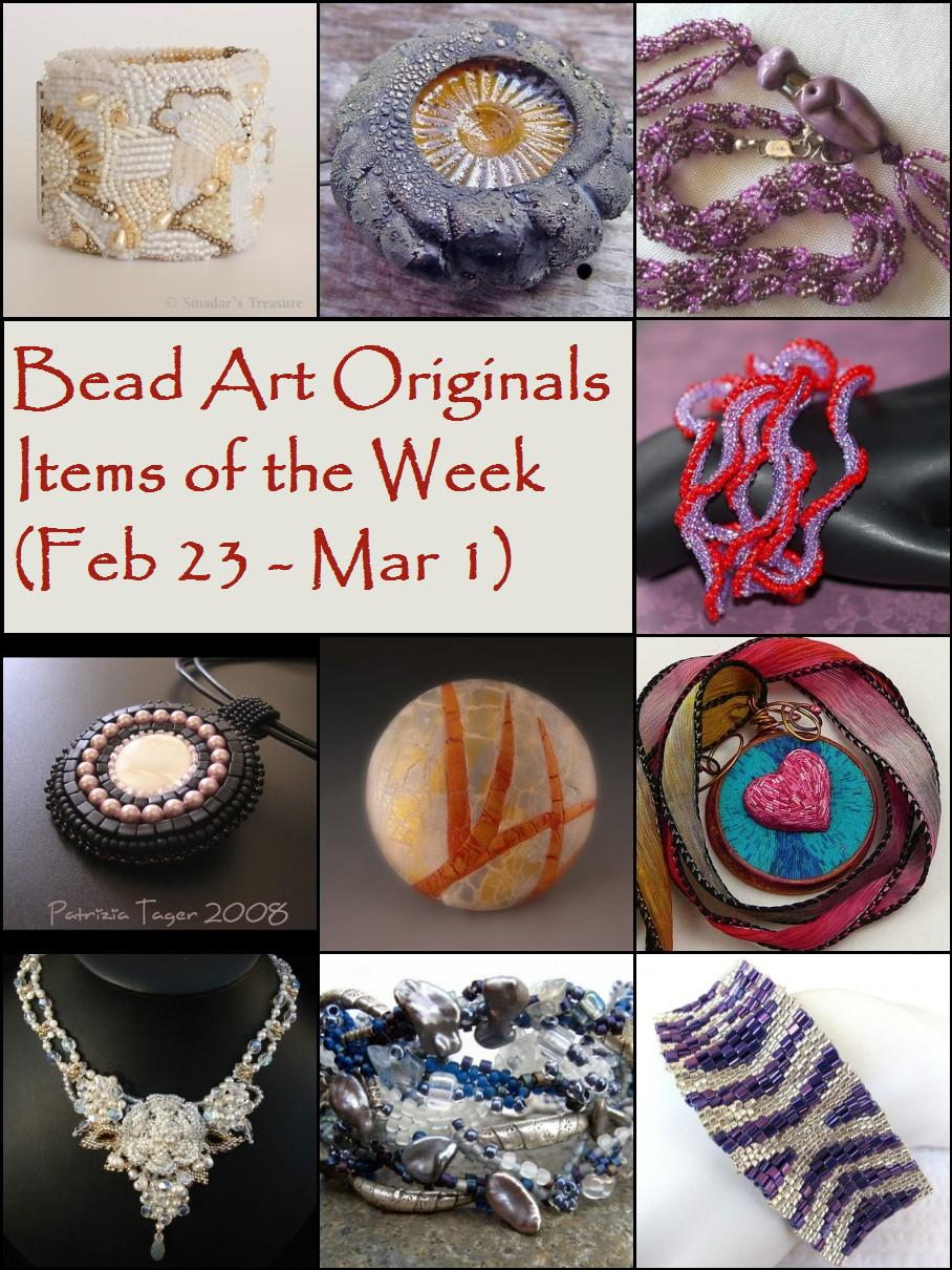 Bead Art Originals Items of the Week (2/23 - 3/1)