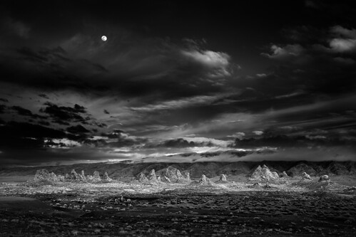 Moonrise Trona, Photograph by Mitch Dobrowner, All Rights Reserved