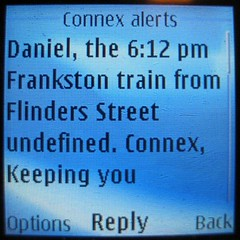The 6:12 train to Frankston is undefined