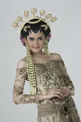 traditional wedding gown in Java, Indonesia