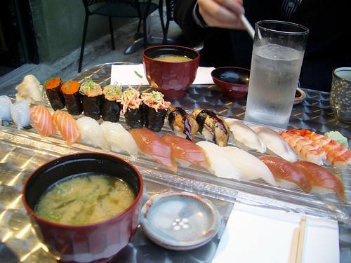 sushi for 2 @ sachiko's