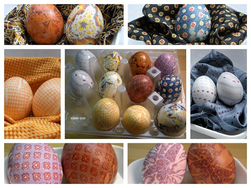 Silk Dyed Eggs Collage