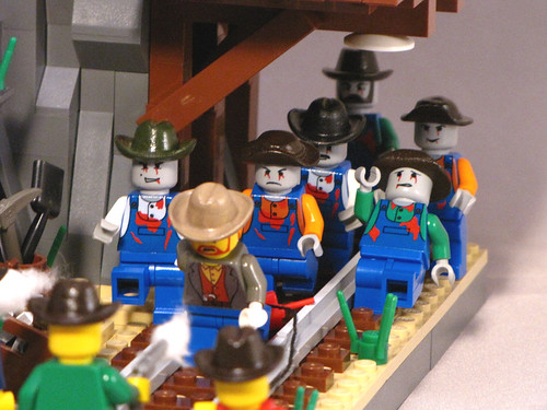 Undead minifigs in a Mine
