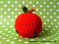Red Apple Amigurumi 1 (xelishacopeland) Tags: food apple fruit toy diy handmade crochet plush kawaii etsy amigurumi crocheted