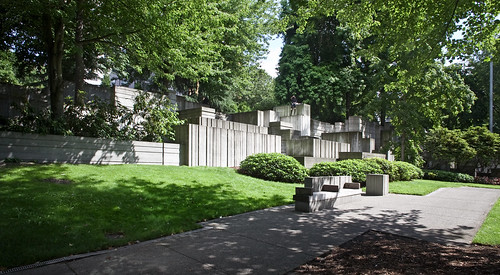 Seattle Halprin Freeway Park Main Fountain Wide View