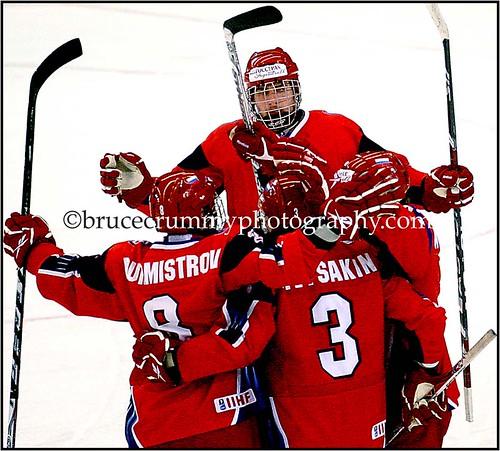 2009 IIHF World U18 Juniors Hockey Championships/Russia over Norway April 12