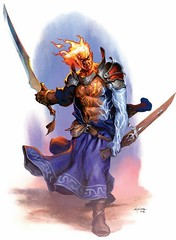 GenasiElementalTempest (Paulos Varrus) Tags: male fighter tempest firesoul genasi swordmage watersoul windsoul