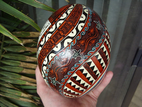 Polynesian designs on Chicken egg · Polynesian tattoo designs