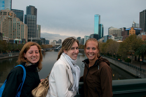 The girls and the skyline