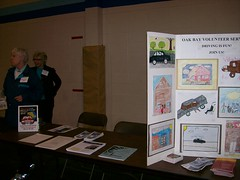 Oak Bay Volunteer Services table