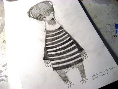 sunbear first sketch