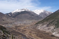 Looking down on Silverton, Colorado