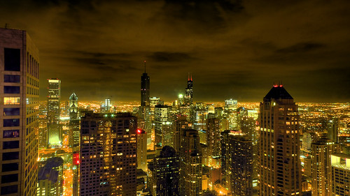Chicago+night+skyline+pictures