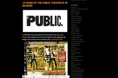 Visual Culture » 15 Years of the Public Theater in 45 seconds_1241956979177