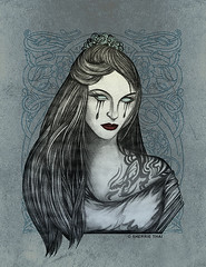 Gothic Beauty (shaire productions) Tags: portrait woman color art girl beauty silhouette tattoo lady female illustration youth digital pencil dark design artwork graphics tears pattern dragon graphic skin drawing vampire mixedmedia gothic goth arts victorian young shapes silhouettes drawings style tribal halftone bust fantasy thai figure designs forms undead illustrator form draw drawn tear teardrop shape creature figures mythology productions vector sherrie graphite figurative skinart blackwork vampiress mythos illustrate subtle realistic sharie mixedmedium sherriethai shaire shaireproductions