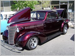 1938 Chevy (Bob the Real Deal) Tags: show ca old black classic chevrolet sedan 1936 vintage cherry candy antique sony 1938 glossy chevy fresno hotrod 2009 coupe shinny classiccars 1939 hotrods 1937 1937chevy blackcherry coolcars custompaint 1936chevy